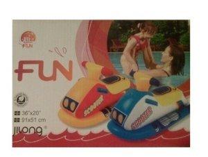 Moto hinchable para agua. Juguete infantil. ATA61474. COLOR AZUL Y BLANCA
