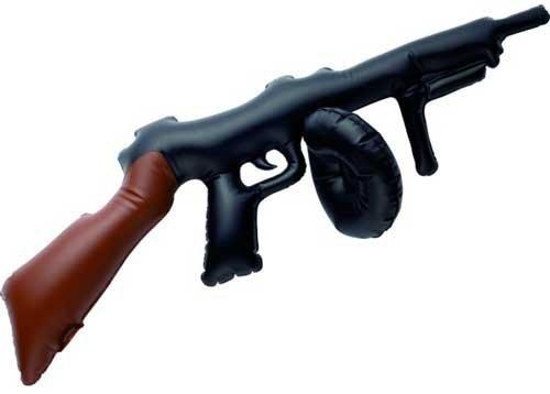 Kostüm Tommy Guns - Aufblasbare Tommy Gun [Spielzeug]