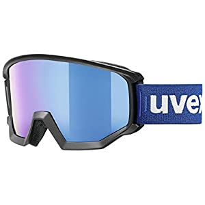 Uvex Athletic FM Ski Goggles, Unisex, S5505202130, black mat, One Size