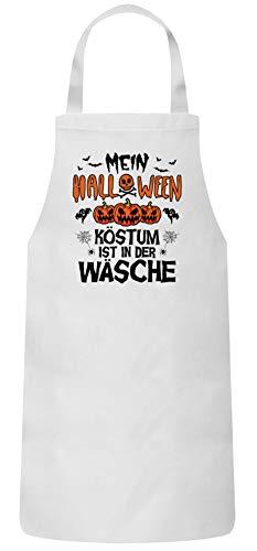 Gruppen Frauen Herren Barbecue Baumwoll Grillschürze Kochschürze Mein Halloween Kostüm ist in der Wäsche, Größe: onesize,Weiß ()