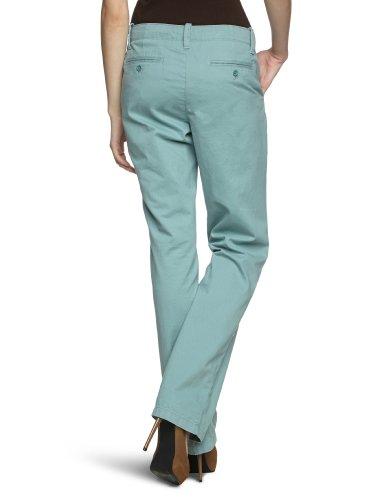 Eddie Bauer Damen Hose 21307863 Straight Fit (Gerades Bein) Niedriger Bund Grau (blaugrau)