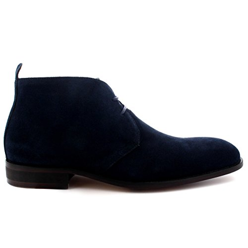 Queensbury Spencer Hommes Style Britannique Désert Chukka Coupe Mi Cheville Chaussure Bottes Marine