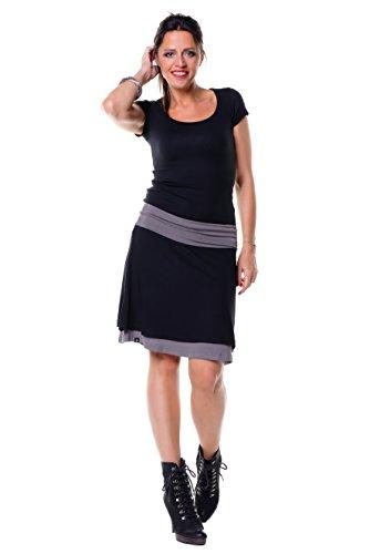 gonna a ruota doppio maglia linea ad a donna casual da 3Elfen - prodotta a Berlino Grigio