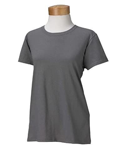 Gildan Ladies 5.3 oz. Heavy Cotton Missy Fit T-Shirt>M CHARCOAL G500L (US)