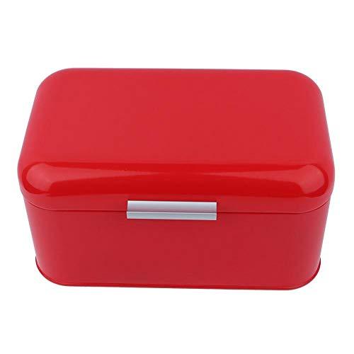 Caja De Pan, Color SóLido Retro Metal Pan Bin Box Gran Capacidad Cocina Pan Keeper Contenedor De Almacenamientorojo...