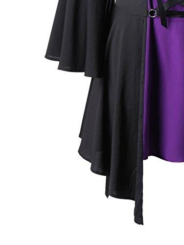 CharMma -  Maglia a manica lunga  - Donna Black and Purple