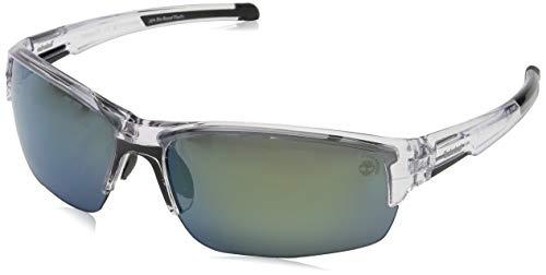 Timberland tb9173 occhiali da sole, crystal/smoke polarized, 70 uomo