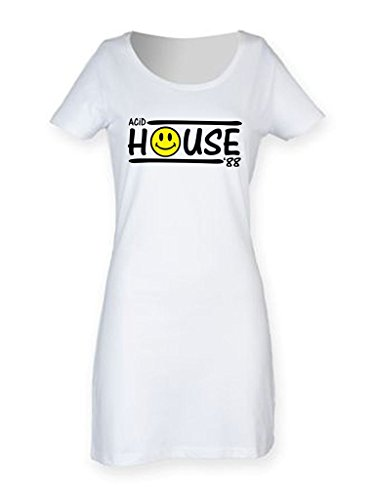 Acid House 88 Women's Short Sleeve T-Shirt Dress - S to XL