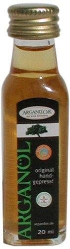 Preisvergleich Produktbild Argand'or Reines Bio-Arganöl,  handgepresst,  aus gerösteten Argannusskernen,  besonders nussiger Geschmack,  20 ml,  2er Pack (2 x 20 ml)