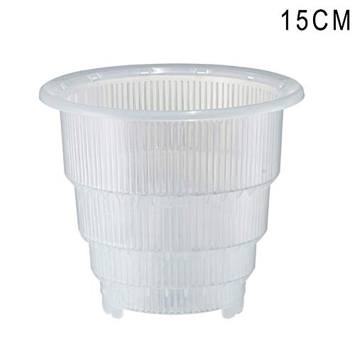 Mesh Side Vent (Percetey Plastic Mesh Pot Orchid Flower Planter with Ventilation on Both Sides,Bottom, Root Guide Groove,Container Home Gardening Decor.Food Grade PP,Corrosion Resistant)