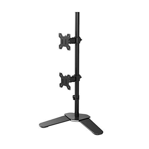 Suptek DUAL Tischständer Monitorständer für 2 LED LCD Monitore VESA 75 100 Modell HALTERUNGSPROFI C03V (2 Monitore)
