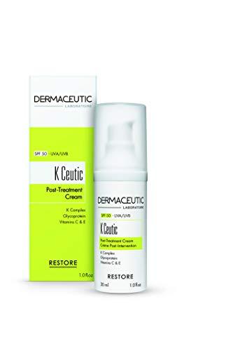 Dermaceutic K Ceutic - Reparierende Creme nach Behandlungen - Feuchtigkeitsspendende schützende und regenerierende Creme nach ästhetischen Behandlungen - LSF 50 UVA/UVB umfassender Sonnenschutz - 30 ml - Trockene Haut Lsf 30 Feuchtigkeitscreme