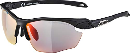 ALPINA Erwachsene Twist Five HR QVM+ Sportbrille, Black matt, One Size