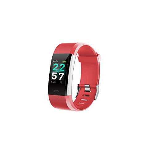 Jiuyizhe Herzfrequenz Schlaf USB Lade Anti-Aquarell-Bildschirm Smart-Armband (Color : Red) -