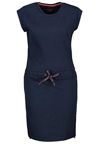 Rock Angel Damen Jersey Shirt-Kleid mit Tunnelzug & Schlitz Dark-Blue S