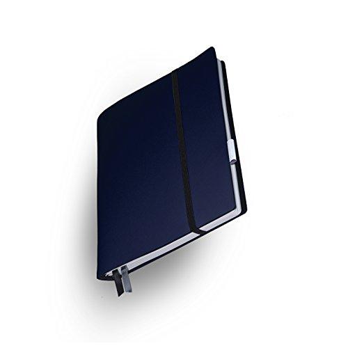 """Whitebook Soft S206-ML, modulares Notizbuch, Veaux Prestige, geschnitten, Indigo Barenia, 240 S. Papier FSC (iPad Mini & Samsung Tab 8"""" integrierbar, Inhaltshefte nachfüllbar)"""