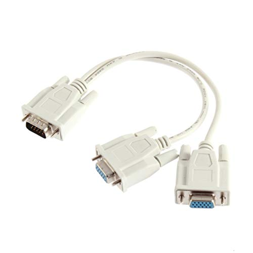 Dual-monitor-vga-kabel (1 PC zu 2 Weisen VGA SVGA Monitor Dual Video Grafik LCD TFT Y Splitter Kabel führen)
