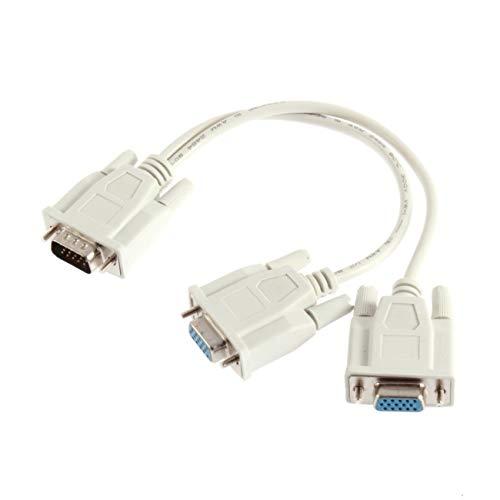 Fannty 1 PC auf 2 Wege VGA SVGA Monitor Dual Video Grafik LCD TFT Y Splitter Kabel - Svga Lcd