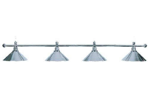 "Billard Lampe \""Elegance\"", silber, 4 Schirme, Ø35cm, 145cm"