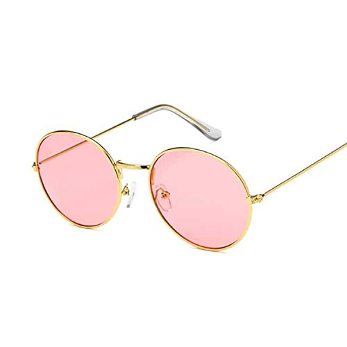 WERERT Sportbrille Sonnenbrillen Ocean Yellow Red Round Sun Glasses For Women Mirror Retro Ladies Small Sunglasses Women (A Bathing Ape Clothing)