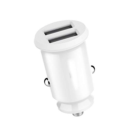 SXY KFZ-Ladekabel 3.1A Fast Charger Auto-Ladegerät Dual USB Car Phone Charger Adapter im Auto für Handy Tablet GPS Netzteil (Color : White) Universal Gps-home Charger