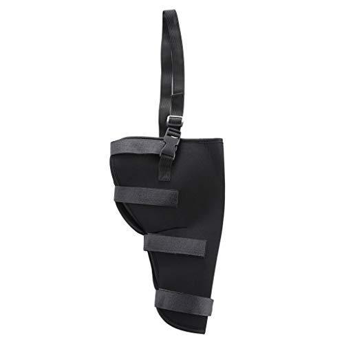 Fenteer Hunde-Bandage Gelenkbandage zur Unterstützung und Stabilisierung während Ihrer Hundebeinverletzung - Linkes Hinterbein-Schwarz, S