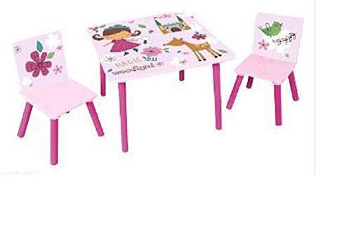 I.T.N. Mesa con sillas Rosa Princesas 60 x 60 cm