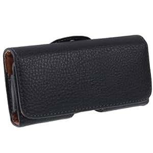 Coque/housse/etui ceinture en simili cuir effet grené pour iPhone5