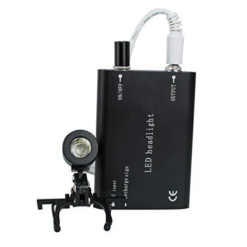 Kopflicht Zahnarzt Dental Schwarz Kopf Licht Lampe für Dental Chirurgische Medizinische Fernglas Lupe -