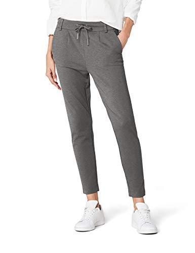 ONLY Damen Hose onlPOPTRASH Easy Colour Pant PNT NOOS, Grau (Medium Grey Melange), 38/L34 (Herstellergröße: M)