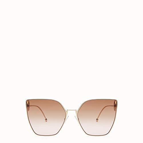 Fendi occhiali da sole f is ff 0323/s gold/brown shaded donna