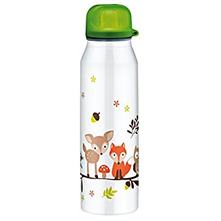 Alfi isoBottle 5337.703.050 Thermal Drinking Bottle 0.5 L forest animals, dishwasher safe; 100% Stainless Steel