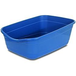 Arenero gigante para gatos Petmate, color azul