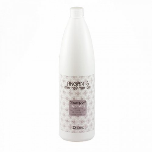 Biacre Argan & Macadamia Hydrating Shampoo 1000 ml Angenehme Haarpflege für alle Haartypen