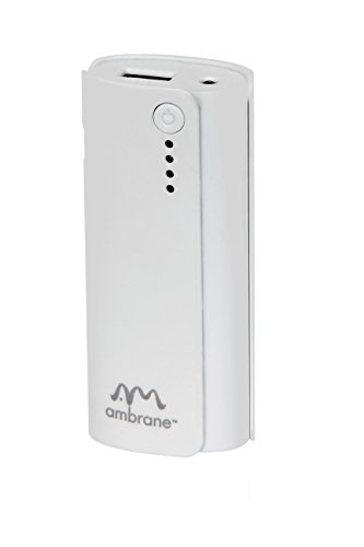 Ambarne Power Bank P-444 4000mAh White  available at amazon for Rs.499