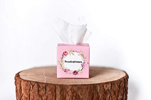 Marry & You 50 Freudentränen Taschentücher Boxen für Hochzeit, Für Freudentränen