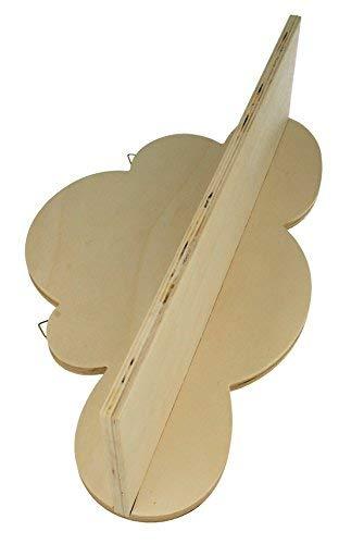 Artemio - mensola in legno, 39 x 22 x 11 cm