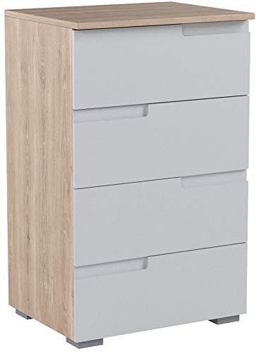 """Kommode Standschrank Highboard Holzschrank Sideboard Anrichte """"Suzette II"""" Sonoma-Eiche/Weiß"""