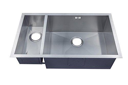 1.5 Hecho a mano de cocina fregadero. Acero inoxidable cepillado para fregadero. Montaje bajo encimera (DS032 R)