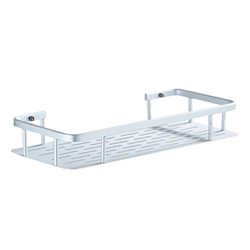 OUNONA Aluminium Duschkörbe Duschablage ohne bohren Saugnapf Wandregal Küche Badezimmer Organizer