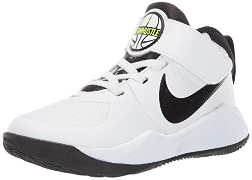 Nike Unisex-Kinder Team Hustle D 9 (ps) Basketballschuhe, Weiß (White/Black/Volt 000), 35 EU