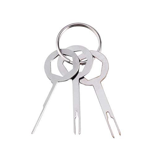um Stecker Entferner Nadel Entfernung Schlüssel Entfernung Extraktion Tool Kit 3 STÜCKE ()