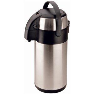 Airpot Glas (Olympia Pump Action Airpot Edelstahl-Teekanne, 2,5l, 330x 151mm)