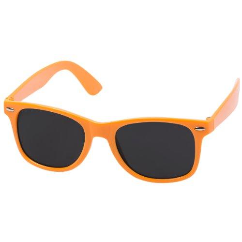 Hochwertige Sonnenbrille Retrobrille Vintage Stil Damen & Herren Unisex Nerdbrille (orange)