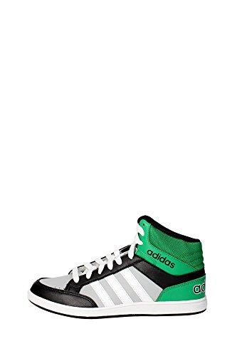 brand new 82a27 f4129 adidas Originals HOOPS MID K Scarpe Sneakers Nero Verde per Bambini