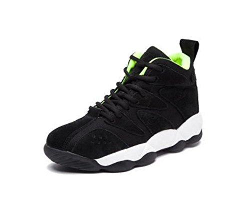 Wzg Os Novos Solo Pesado Esportes De Couro Sapatos Femininos Sapatos, Sapatos Casuais Coreano Sapatos Baixos Maré Correndo Sapatos Pretos