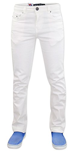 Mens True Face Slim Fit Stretchable Jeans Denim Cotton Trousers