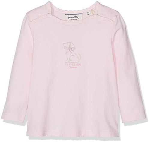 Sanetta Baby-Mädchen Shirt Langarmshirt, Rosa (Magnolie 3609), 80 (Herstellergröße: 080)