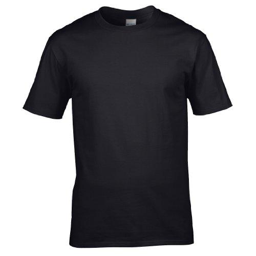 Gildan Premium T-Shirt für Männer (L) (Schwarz) L,Schwarz
