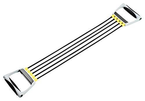 Bad Company Chest Expander I 5-fach verstellbare Widerstandsbänder mit Griffen I Fitnessbänder für das Hometraining
